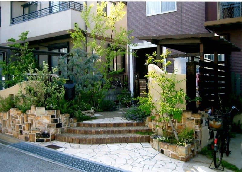 洗濯干しテラスのある庭 GARDENさくら 兵庫県神戸市西区の女性建築士が造る庭・ガーデニング・外構・エクステリア