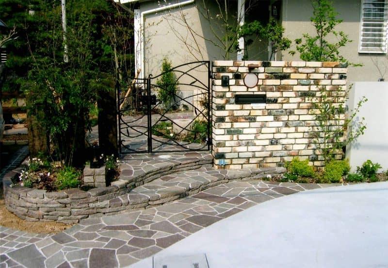 焼き物レンガのある庭|GARDENさくら 兵庫県神戸市西区の女性建築士が造る庭・ガーデニング・外構・エクステリア